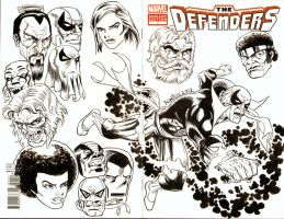 Iron Fist Sketch Cover by ElfSong-Mat