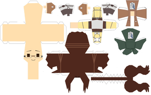 Hanji Zoe papercraft template by Zenny-Again