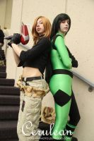 Kim Possible + Shego by rawien