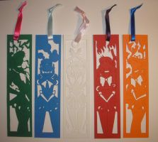 Papercut Sailor Scout Bookmarks by freaky-dragonlady