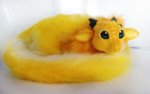 Handmade poseable Banana dragon SOLD by KaypeaCreations