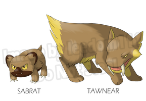 Fake Pokemon: Sabrat + Tawnear by leedom111