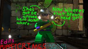 Lego Batman 2 Riddler is looking for me by PuppetCrimes