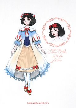 Snow White and lolita fashion by Moon-In-Milk