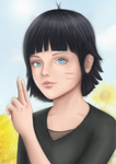 Himawari Uzumaki Fan Art by KarenOArt