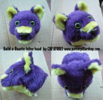 Build-a-Beastie feline head by Rahball