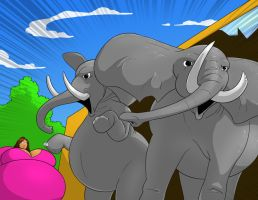 Talula vs the Elephants 1 by FatClubInc