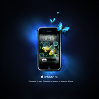 Space or water iPhone by gemicek