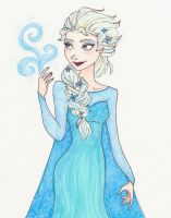Elsa Doodle by mox-ie