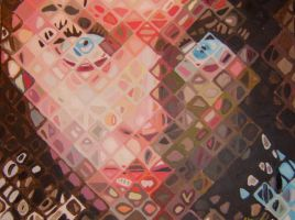 Chuck Close Painting by jaffercake