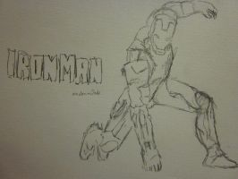 rough Iron Man sketch by Mestawe