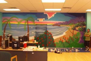 Mural for Travel Agency by BlackStarDesigns