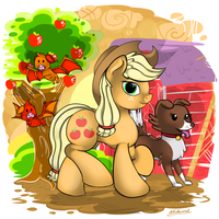 Applejack by malamol