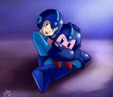 Rockman / Megaman and Kirby by Kpx-Beatrix