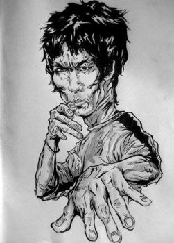 Bruce Lee 'Game of Death' characterization by DavidKalver