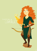 RoTG Crossover - Merida by carmalarma