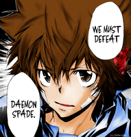 Tsuna Manga Colouring by EchoingStar
