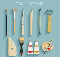 11 Exquisite Painting Tool Vector by FreeIconsdownload