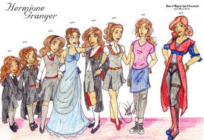 Hermione Through the Years by Gothicthundra