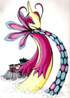 Dazzling Milotic by Xebeckle-il-Ziluf