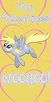 Derpy Hooves Valentine Day Card by Kurenai-Hio