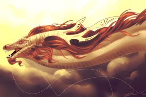 Eastern Dragon by Caerulai