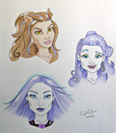 Halloween Monster High Doodles by Crystal-Cat