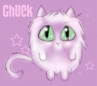 Chuck the cat sketch by latent-ookami
