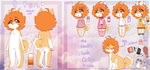 Kim's Ref Sheet // 2017 // by Poofiie