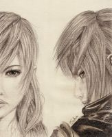 Lightning and Noctis by tsuky76710