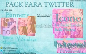 Pack para Twitter Carli Edition\'s! Pedido de Ilse by Carli23Cosgrover