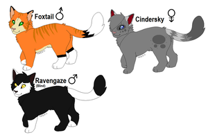 2 Point Cat Adoptables! (OPEN) by Flamesterz