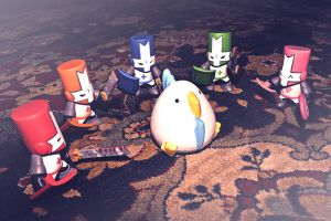 Castle Crashers Surrounding Chicken by Digital-Iconic