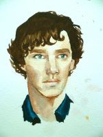BBC Sherlock: Watercolour by Graphitekind
