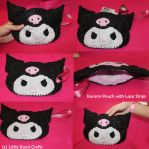 Kuromi Kawaii Pouch by lkcrafts