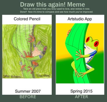 Draw This Again: Tree Frog by CometColt