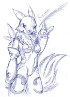 Renamon by DaRkRaVeNsTeAr