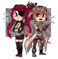 Mei and Kat by fishcycle