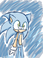 Sonic doodle by KittyBat1234