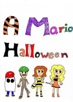 A Mario Halloween Title Page by agentbananayum