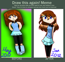 Draw it again meme: Miku by CreeperTier