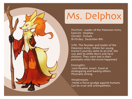Ms Delphox Bio Sheet by Xyliax