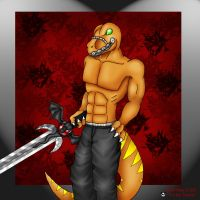 Bad Rap with sword -Tiamat by Extreme-Dinosaurs