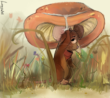 Under the Mushroom by Linexyy