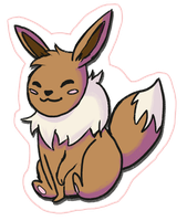 Eevee Sticker by ditto9