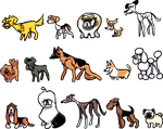 A bunch of dogs by DevianJp824