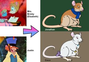 Next Generation_Mrs. Brisby/Justin by SilverBuller