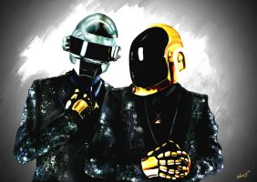 Daft Punk by Ashwyerio