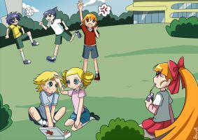 Playing Soccer by AlineSM