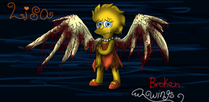 Lisa Simpson Broken Wings (The Fallen Angel) by cyngawolf